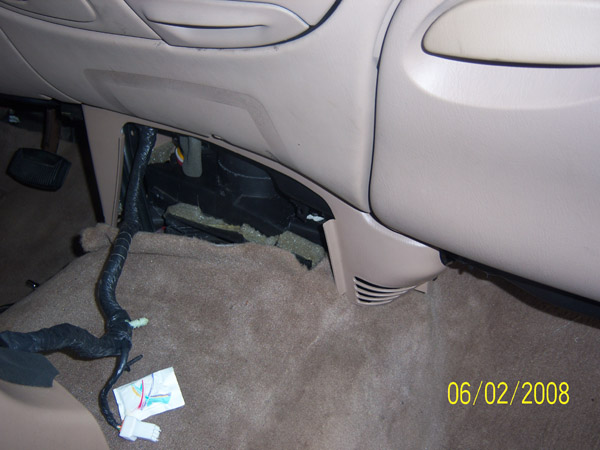 Center Console Removed